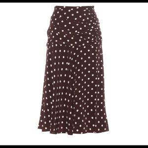 Veronica beard polka dot skirt